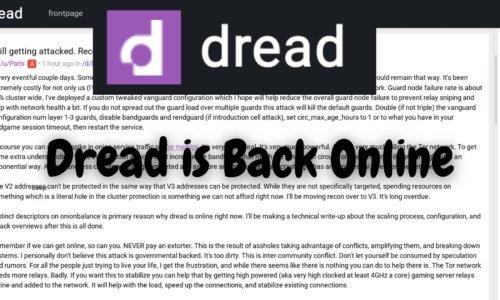 Dread is Back Online